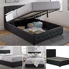 queen platform bed frame with headboard. Unique With Image Is Loading QueenSizeBedFrameWithShoeStorageTufted In Queen Platform Bed Frame With Headboard O