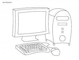 Disegni Da Colorare Categoria Oggetti Vari Immagine Computer