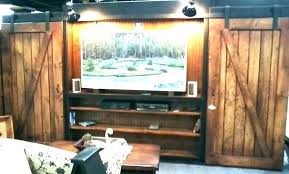 barn door media center. Sliding Door Entertainment Center Media Cabinet With Doors Barn White