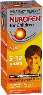 nurofen children 5 12 orange flavour 100ml