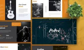 Music Powerpoint Template Download Makrock Music Powerpoint Template G4ds