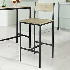SOBUY® ENSEMBLE TABLE de bar+2 chaises,Table haute cuisine, Lot de 1 ...