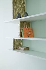 bibliothque laiton + laque celadon - marie deroudilhe  www.mariederoudilhe.com photo by Julie