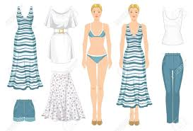 Clothes Template Paper Doll With Clothes Body Template Set Of Template Paper
