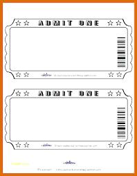 Free Editable Raffle Movie Ticket Templates Free Movie