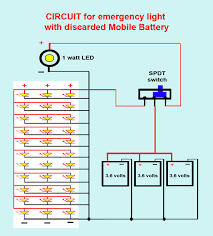 emergrncy light mobile phone battery 6 steps pictures show all items wire the led s batteries