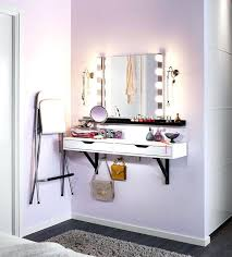 makeup vanity brilliant setup for your room wall mounted organizer