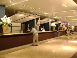 the check in lobby at the resort