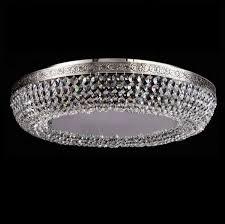 maytoni crystal ceiling lamp luna nickel