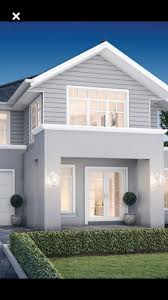 grey render white trims white roller door dream house for glamorous weatherboard beach