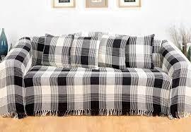 cotton tartan throw for sofa armchair