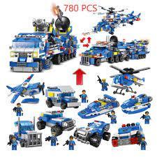 780 CHI TIẾT-HÀNG CHUẨN] BỘ ĐỒ CHƠI XẾP HÌNH LEGO CẢNH SÁT,Lắp Ghép OTO,  ROBOT, Lắp Ráp Xe Swat, Trực Thăng, Máy Bay chính hãng 150,000đ