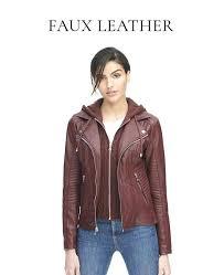 wilsons leather jacket women faux jackets motorcycle womens