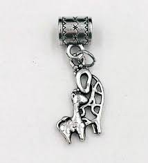 baby charms vintage silver cute giraffe mom pendants of necklace bracelet jewelry gold pendant singapore