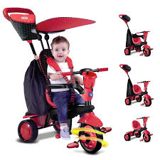 smart trike glow spark touch steering  in  tricycle baby ride on