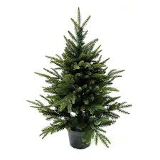 3ft in Pot English Pine PE Artificial Christmas Tree