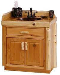 Custom Rustic Cedar Wood Log Cabin Lodge Bathroom Vanity Cabinet 30 Inch Ebay