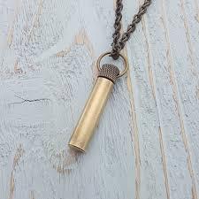 antique brass poison vial pendant