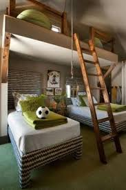attic house design charming loft ideas for homes for kids bedroom design also cool wooden ladder also green bean bag also green thick quilt also a ball