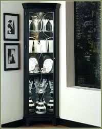 corner curio cabinets with glass doors wall cabinet shelves white wood metal