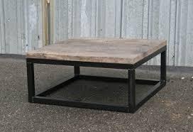 Hastings Reclaimed Wood Coffee Table Modern Reclaimed Wood Coffee Table With Steel Base By Crofthousela