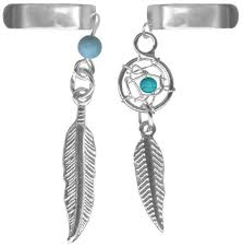Dream Catcher Bracelet Amazon Set of Two Dangle Ear CuffsImitation Turquoise Dream Catcher and 64