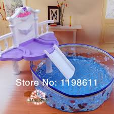 free shipping new girls toy diy toys doll furniture with box swimming pool doll furniture accessories barbie doll furniture diy