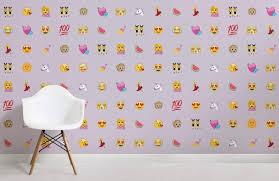 girls purple emoji childrens room wall murals
