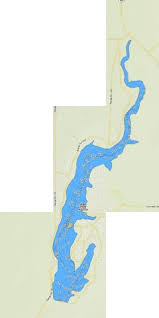 Blood Indian Creek Reservoir Fishing Map