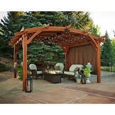 OGR  Outdoor GreatRoom Company Sonoma Pergola 16u0027 WallOutdoor Great Room
