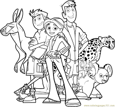 Small Picture Wild Kratts Team Coloring Page Free Wild Kratts Coloring Pages