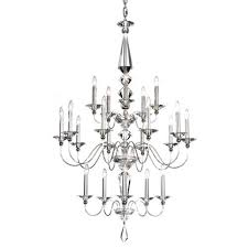 schonbek jasmine silver 20 light clear optic handcut crystal chandelier 36w x 57h x 36d