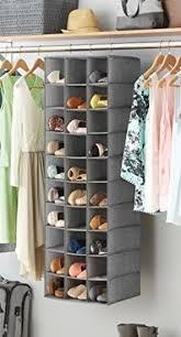 details about hanging shoe closet organizer shelves 30 section whitmor canvas rack cubby slot