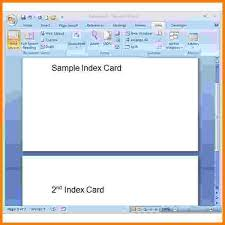 Printable Note Cards Template Note Card Template Word