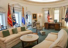 lbj oval office. AUSTIN TEXAS - SEPTEMBER 17, 2017-The Oval Office At The Lyndon B Johnson Lbj