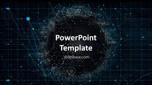 Powerpoint Circuit Theme 003 Template Ideas Free Technology Themed Powerpoint