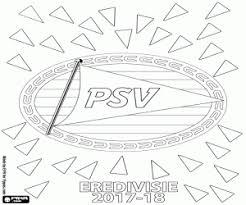 Psv Eindhoven Eredivisie 2017 18 Coloring Page Printable Game