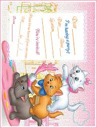 aristocats marie aristocats printable party invitation aristocats marie aristocats printable party invitation marie aristocats