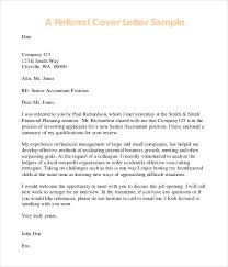 Bunch Ideas Of Cover Letter Examples With Referral Fabulous 10 Cover