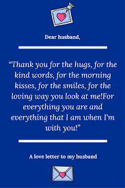 Dear Husband Thank You For Always Being There For Me