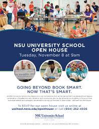 University School Open House Nov 8 Nsu Newsroom