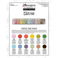 Distress Oxide Ink Pads Set 4 Mid 2018 By Tim Holtz All 12 Colors