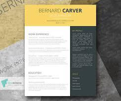 Resume Modern Ex Free Yellow Dark Grey Cv Template Modern Mustard Splash