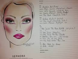 Sephora Face Chart Pantone Color Of The Year Radiant Orchid Face Chart By Me