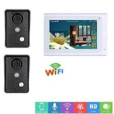 ZHANG <b>7inch Wireless/Wired Wifi</b> IP Video Door Phone: Amazon.co ...