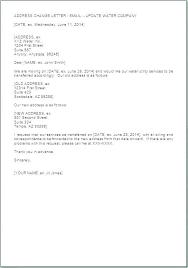 Address Change Letter Template Aoteamedia Com