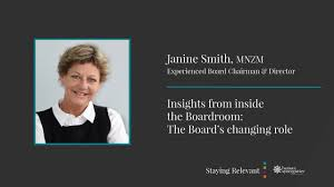 Janine Smith - Insights from inside the Boardroom: The Changing Role of the  Board - YouTube