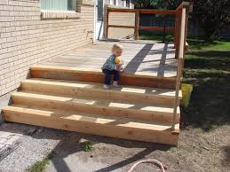 building outdoor stairs better photo of small deck with long s