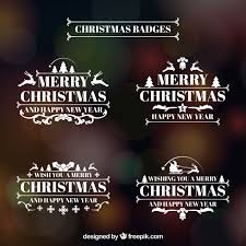 Merry Christmas Retro Logos Pack Vector Free Download
