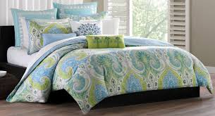 image of blue and green light bedding sets